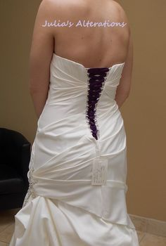 How to make a corset from a zippered dress that is too tight ...