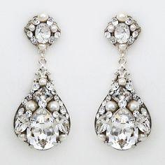 Vintage Oval Filigree Wedding Earrings SALE!! Orig. $160 SALE $119 ...