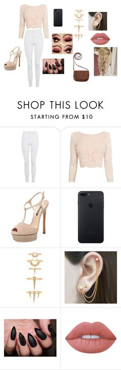 """""""Untitled #94"""" by shortiiiee on Polyvore featuring Topshop, Coast, Casadei, Luv Aj, Embers Gemstone Jewellery, Lime Crime and Aéropostale"""