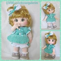 Crochet Dolls Free Patterns, Crochet Doll Pattern, Baby Knitting Patterns, Doll Patterns, Crochet Dollies, Crochet Teddy, Crochet Toys, Crochet Baby, Pretty Dolls