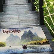 Explorers Floor Impressions Logo Rug