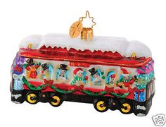 Radko Chilly Travelers B & O Railroad Train Car Christmas Ornament Baltimore And Ohio Railroad, Radko Christmas Ornaments, Train Ornament, Christopher Radko Ornaments, Christmas Train, Train Car, Seasonal Decor, Coin Purse, Old Things