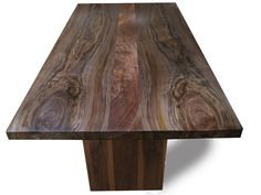 Custom Made Walnut Dining Table with Pedestal Legs by fix studio   CustomMade.com