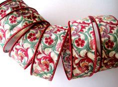 Florentine Cotton Wired Ribbon Trim Multi / by PrimroseLaceRibbon, $3.75