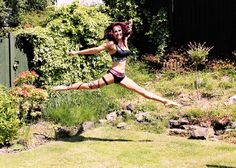 Sarah McClymont training outside wearing Asymmetric Crop Top and Split Micro Shorts by Wink Yoga Wear, Dance Wear, Pole Dancing Clothes, Dance Shorts, Aerial Arts, Summer Prints, Funky Fashion, Spring Summer 2015, Second Skin