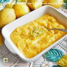 Crema al limone con e senza uova versione Bimby