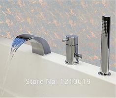 ensemble de douche robinet de baignoire /à poign/ée unique ensemble de douche mural douche de robinet Robinet de baignoire en or noir avec douche /à main