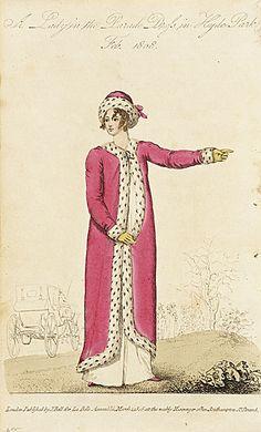 Fur trimmed pelisse 1808