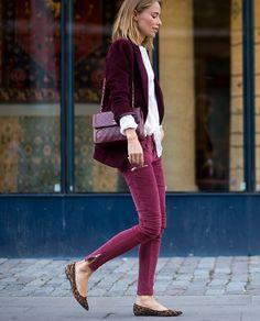Burgundy / merlot / berry / fall street style / fall color trends / Irene Adler