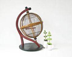 Hey, I found this really awesome Etsy listing at https://www.etsy.com/listing/189721668/bird-cage-globe-sphere-round-birdcage