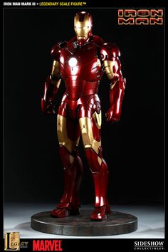 Sideshow Collectibles - Iron Man Mark III Legendary Scale(TM) Figure Spare euro for this.no problem :) Iron Men 1, Superhero Poster, Sideshow Collectibles, Graphic Design Projects, Cultura Pop, Hot, Action Figures, The Incredibles, Marvel