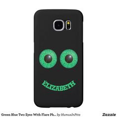 Green Blue Two Eyes With Flare Phone Case Samsung Galaxy S6 Cases