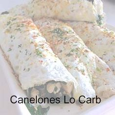 canelones Sin Gluten, Keto, Chef, Food, Low Carb, Healthy Lunches, Healthy Dieting, Food Items, Side Dishes