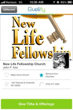 New Life Fellowship Church in Charlotte, NC #GivelifyChurches