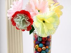 Cool project from http://www.kiwicrate.com/projects/Cupcake-Wrapper-Flowers/738: Cupcake Wrapper Flowers