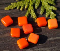 Bright Blues and Popping Oranges  by Megan and Kelly on Etsy