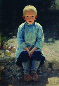 Nikolai Alexandrovich Yaroshenko (1846 - 1898) - Boy in the Garden, 1892