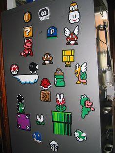 Jejune.net » Blog Archive » Mario 3 Perler Magnets