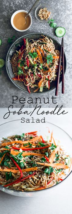 delicious and healthy Vegan Peanut Soba Noodle Salad Recipe. Soba Noodles and A delicious and healthy Vegan Peanut Soba Noodle Salad Recipe. Soba Noodles and . -A delicious and healthy Vegan Peanut Soba Noodle Salad Recipe. Soba Noodles and . Whole Foods, Whole Food Recipes, Cheap Clean Eating, Clean Eating Snacks, Eating Habits, Asia Food, Vegetarian Recipes, Healthy Recipes, Healthy Drinks