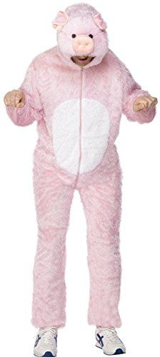 9690e4609b4 Smiffys Men s Pig Costume Includes Jumpsuit with Hood