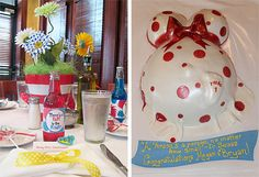 Dr. Seuss Baby Shower and Belly Cake!