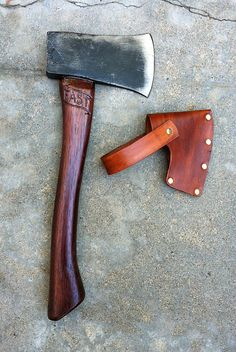 #axes #axe #ax Hold Fast Hatchet - Maritime carved Hatchet with handmade leather sheath - SquidyDesigns