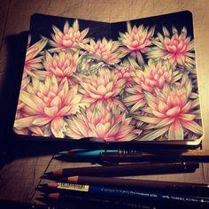 """MARCO MAZZONI. """"MDMA"""" 2015, colored pencils on moleskine paper, cm 14x18"""