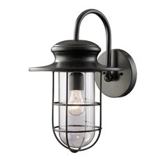 Elk Lighting Outdoor Wall Light with Clear Glass in Matte Black Finish | 42285/1 | Destination Lighting