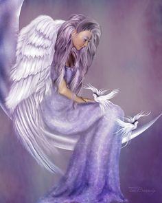 I Believe In Angels Mixed Media - I Believe In Angels Fine Art Print