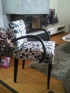 Petit fauteuil avec tissu ikea
