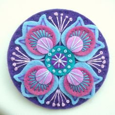 DSCN0861 | Marrakesh felt brooch in violet | By: APPLIQUE-designedbyjane | Flickr - Photo Sharing!