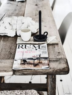 // big old rustic table Home Interior, Interior Styling, Interior And Exterior, Interior Decorating, Bohemian Interior, Rustic Chic, Modern Rustic, Shabby Chic, Wabi Sabi