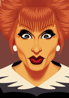 Bianca Del Rio  Judge Judy Postcard by ChadSellComics on Etsy