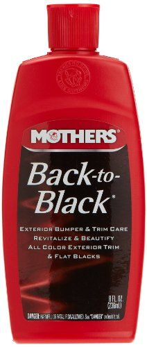 Mothers 06108 Back-to-Black Trim Care - 8 oz - http://www.change-oil.net/car-care/mothers-06108-back-to-black-trim-care-8-oz/