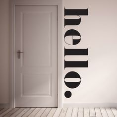 """The HELLO Wall Decal is a fun way to greet your family and guests! Decal is 100% removable. It is best to install on a flat non textured service with egg shell/semi gloss/ gloss paint. To clean use damp cloth and warm water. All of our products are made to order. We do this to insure that you are getting a brand new wall decal.  Material: 100% polyester fabric self adhesive vinyl, HP Latex Inks Size: 16"""" x 60"""""""