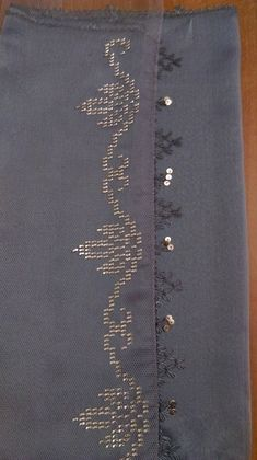 This Pin was discovered by Bir Embroidery On Kurtis, Hand Embroidery, Embroidery Designs, Cross Stitch Heart, Cross Stitch Borders, Bridal Makeup Looks, Monogram Alphabet, Weaving Patterns, Moda Emo