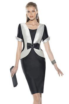 Vestido de madrina con manga Blanco y Negro 3475 Teresa Ripoll by Teresa Ripoll | Boutique Clara
