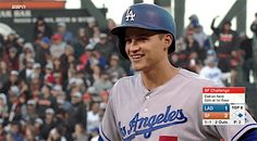 Corey Seager is almost picked off when he gets stuck in the mud - June 12, 2016