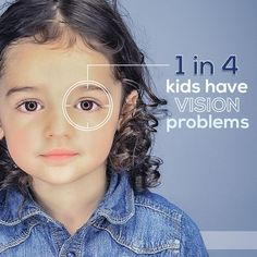 WOW! One in four children have vision issues ... and yet NEARLY 50% of parents…