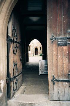 Cambridge UK- Trinity College doorway  I spent a semester here