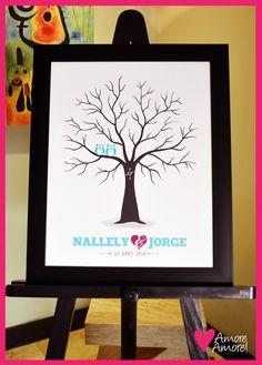 Árbol de Huellas para boda, Wedding Tree