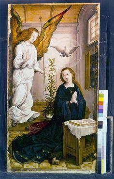 Annonciation (Retablo Mayor) | Palencia[ES], Catedral de San Antolín, Choeur, retable majeur | Flandes, Juan de (artiste-peintre), Date: 1510 (ca) - 1510 (ca)