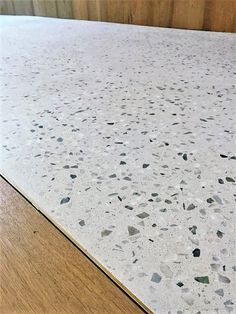 flooring material Traditional concrete terrazzo look in an incredibly thin real concrete overlay Concrete Overlay, Concrete Color, Polished Concrete Flooring, Exposed Aggregate Concrete, Terrazo Flooring, Lobby Design, Floor Finishes, Kitchen Flooring, Overlays