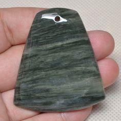 Natural Faceted Silver Line Jasper Gemstone Bead. Starting at $8 on Tophatter.com!