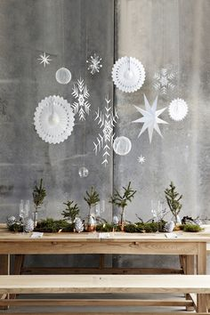 Natural Christmas table
