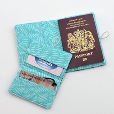 PDF Sewing pattern for a Passport holder and card case set. Want to make your own beautiful matching accessories? Make them up in any fabric you like. This is an easy pattern suitable for beginners Sewing Basics, Sewing For Beginners, Sewing Hacks, Sewing Projects, Sewing Ideas, Card Wallet, Card Case, Pdf Sewing Patterns, Bag Patterns