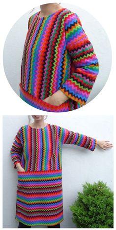 Colourful Fleece Ottobre Art Teacher Dress made by Ivy Arch