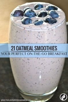 An oatmeal smoothie is very healthy because it contains much protein and fiber. - An oatmeal smoothie is very healthy because it contains much protein and fiber. Moreover, its taste is exceptional: once you try it, you will drink it every day. Smoothie Drinks, Healthy Smoothies, Breakfast Protein Smoothie, Banana Oatmeal Smoothie, Healthy Drinks, Smoothies With Oats, Healthy Breakfast Shakes, Oatmeal Protein Shake, Smoothie Recipes Oatmeal