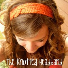 Knotted Crocheted Headband. going to try to make this.