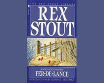 """Fer-de-lance,"" Rex Stout's first Nero Wolfe mystery. Beginning in for over four decades Stout served as ""agent"" for Archie Goodwin, who chronicled the cases of ""that Falstaff of detectives,"" Nero Wolfe. I Love Books, Books To Read, My Books, Mystery Series, Mystery Books, Detective Series, Book Series, Book 1, Rex Stout"